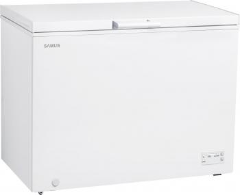 Lada frigorifica Samus LS333 308 L Clasa F Alb Lazi si congelatoare