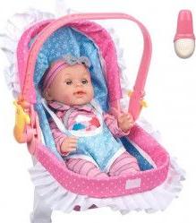 Papusa bebelus 35 cm cu 10 sunete port bebe marsupiu