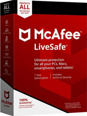 Antivirus McAfee LiveSafe Unlimited Devices 1 An Licenta Electronica