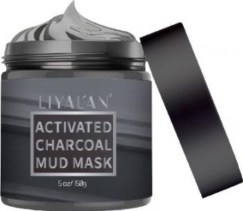 Masca faciala de noroi cu carbune activ LIYALAN Ideala pentru persoanele cu piele grasa si cu tendinte acneice 150 g Masti, exfoliant, tonice