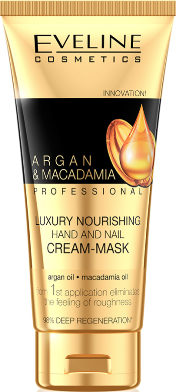 Crema-masca de maini Eveline Cosmetics Argan and Macadamia 100ml