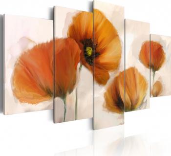 Tablou canvas 5 piese - Masti artistice - 100x50 cm