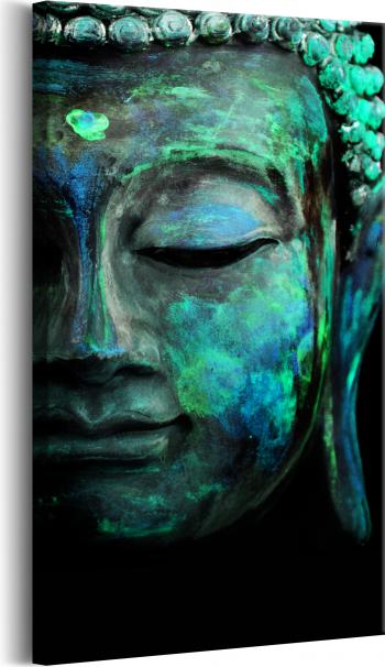 Tablou canvas - Masca verde - 40 x 80 cm