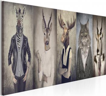 Tablou canvas - Masti de animale - 120x40 cm