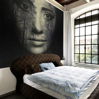 Fototapet vlies - Masca de padure - 300 x 231 cm