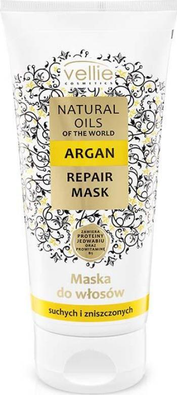 Masca de par Vellie Natural Oils of the World cu ulei de Argan pentru par uscat si deteriorat 200ml