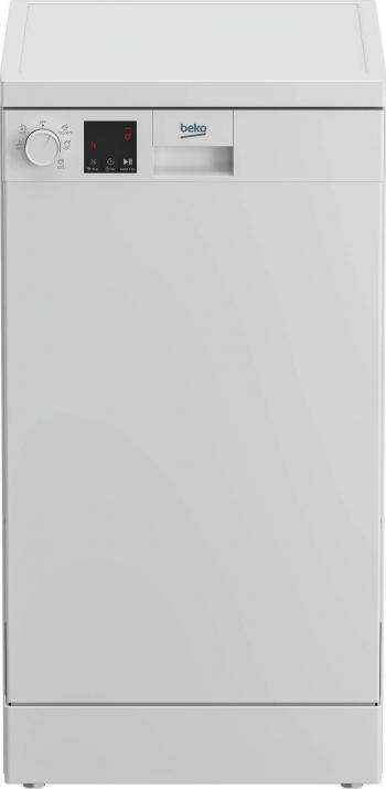 Masina de spalat vase Beko DVS05024W 10 seturi 5 programe Clasa E Indicator sare Display LED Flexible HalfLoad 45 cm Alb