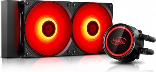 Cooler Procesor cu Lichid Deepcool Gammaxx L240T RED Negru-Rosu