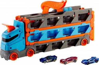 Camion si pista de masinute Mattel Hot Wheels