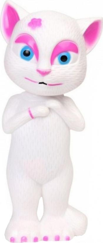 Pisicuta de jucarie amuzanta vorbitoare Talking Angela cu sunete si lumini 21 cm - 83819