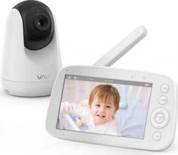 Video Monitor VAVA VA-IH006 5 inch Night Vision Alarma Temperatura Alb