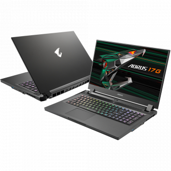 Laptop Gaming Gigabyte Aorus 17G KD Intel Core (11th Gen) i7-11800H 512GB SSD 16GB RTX 3060 6GB FullHD 300Hz Win10 Tast. ilum.