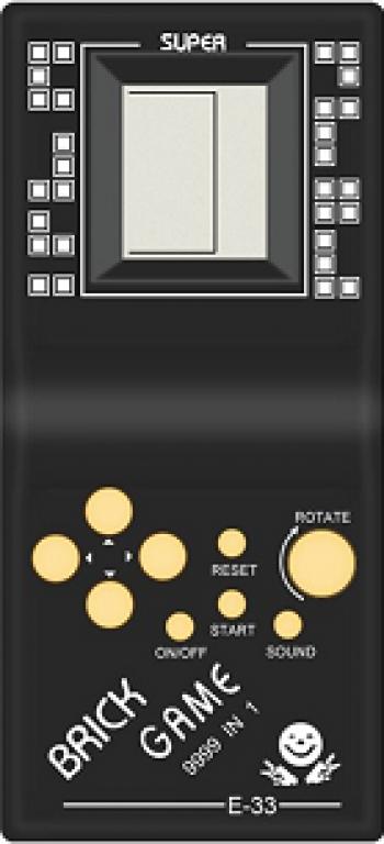 Consola de joc Tetris 9999 in 1 Gonga Negru
