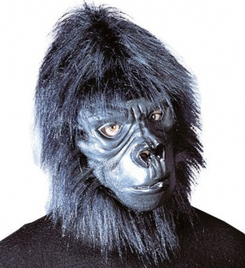 Masca amuzanta cap de Gorila Kong Gonga Negru