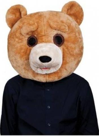 Masca amuzanta Cap Ted Bear din plus Gonga Maro