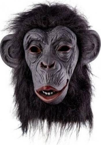 Masca amuzanta din latex Gorila Italiana Gonga Negru