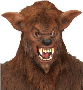 Masca Creepy din latex Wolfman Gonga Maro