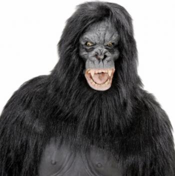 Masca Creepy Gorila Nervoasa Gonga Negru