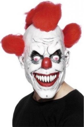 Masca Creepy Killer Klaun Gonga Alb