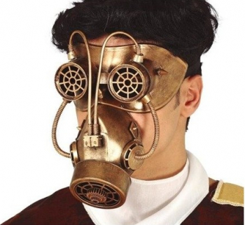 Masca de gaze Steampunk Gonga Auriu