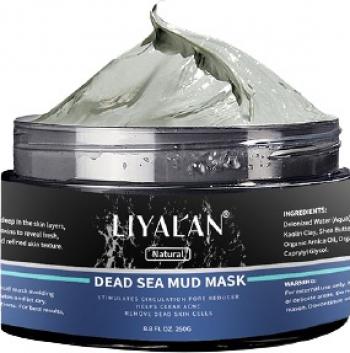 Masca faciala cu noroi din Marea Moarta LIYALAN Stimuleaza circulatia Reductor de pori Ajuta la eliminarea Acneei Indeparteaza celulel