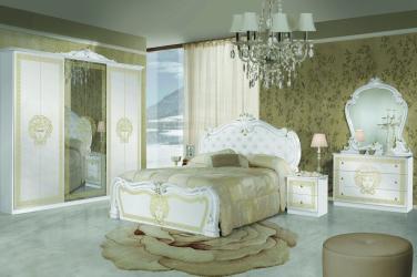Dormitor Vilma Alb-Auriu
