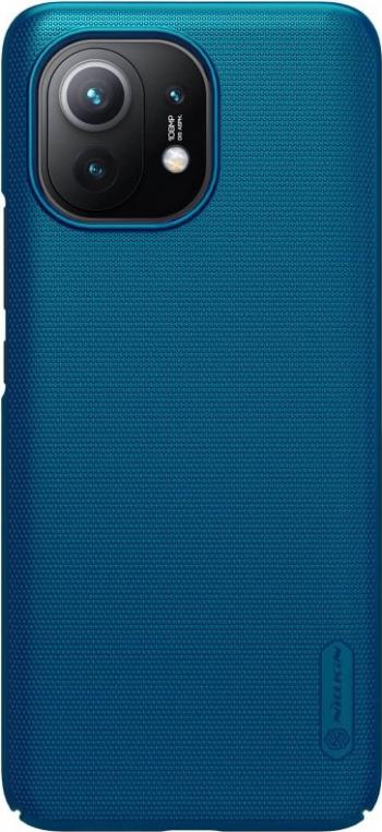 Husa protectie din plastic texturat albastru pentru Xiaomi Mi 11- Nillkin Frosted Shield