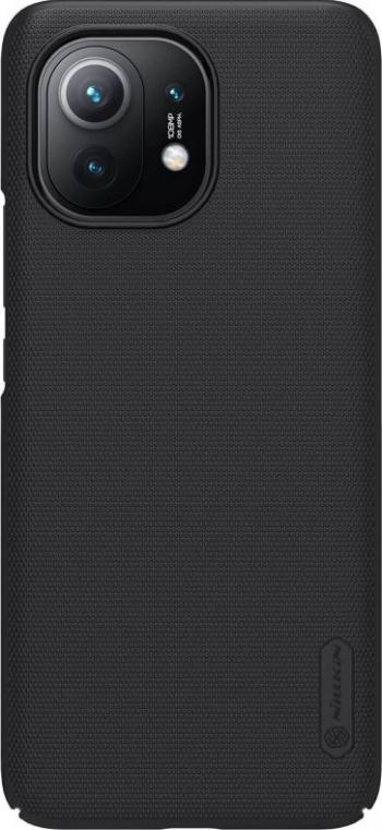 Husa protectie din plastic texturat negru pentru Xiaomi Mi 11- Nillkin Frosted Shield