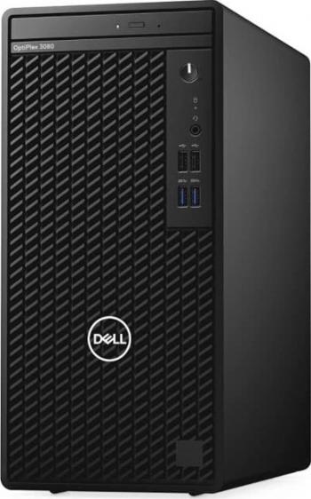 Desktop Dell OptiPlex 3080 MT Intel Core (10th Gen) i5-10505 256GB SSD 8GB Linux DVD-RW M+T Negru