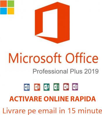 Licenta Microsoft Office 2019 Pro Plus Retail Permanenta