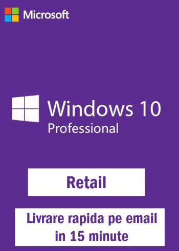 Windows 10 Pro Retail 32-64 Bit toate limbile Licenta electronica