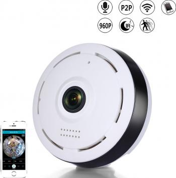 Camera video panoramica de interior cu lentila fisheye