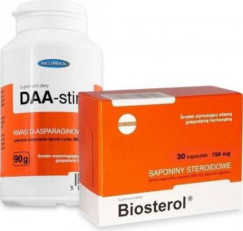 Pachet Megabol DAA-stin 90 g plus Biosterol 750 mg 30 cps
