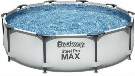 Piscina cadru metalic Bestway 305x76 cm cu pompa filtrare si prelata