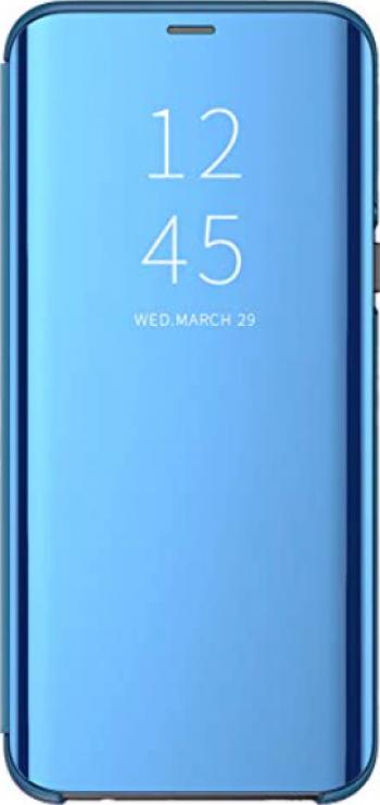 Husa Tip Carte Mirror Compatibila Cu Samsung Galaxy A11 / M11 Albastru