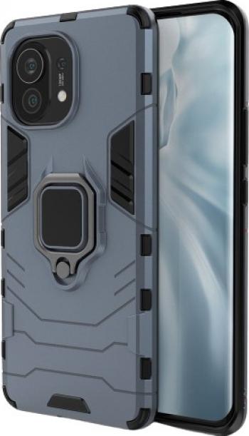 Husa Spate Upzz Ring Armor Compatibila Cu Xiaomi Mi 11 Albastru