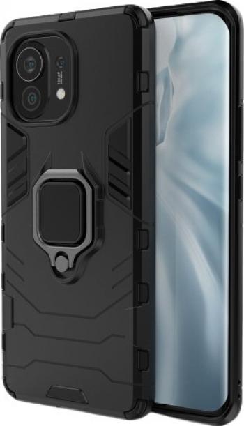 Husa Spate Upzz Ring Armor Compatibila Cu Xiaomi Mi 11 Negru
