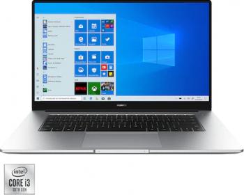 Ultrabook Huawei MateBook D15 2021 Intel Core (10th Gen) i3-10110U 256GB SSD 8GB FullHD Win10 FPR Silver
