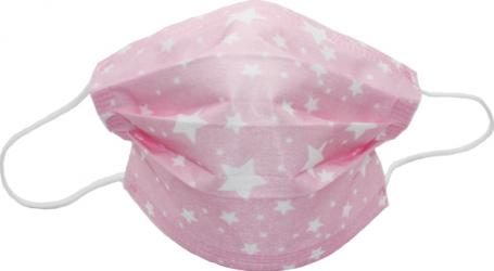 Set de 10 de masti faciale de unica folosinta fashion model roz cu stelute