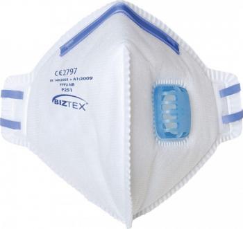 Masca de Protectie Respirator FFP2 Valved Dust Mist Fold Flat Regular Alb one size