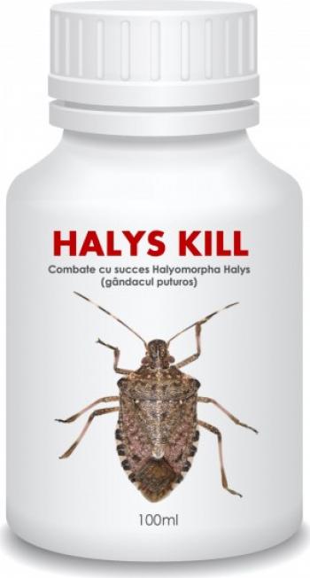 Insecticid organic de contact HALYS KILL produs concentrat si repelent impotriva gandacului puturos 250 mL