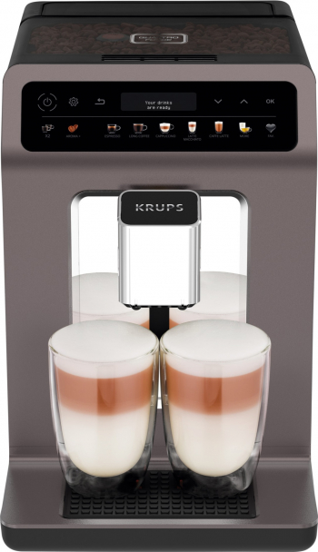 Espresor Automat Krups Evidance ONE EA895E10 1450W 15 bar 2.3 l display Gri
