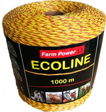 Fir Gard Electric Ecoline 1000m lungime 3lite x 0.2mm rezistenta la rupere 90 kg