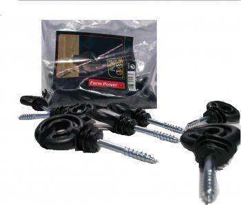 Izolatori fir gard electric 25buc/ punga cu suport de 5mm