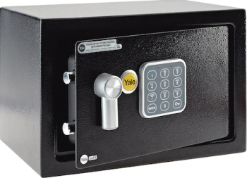 Seif electronic mediu cu alarma cu cifru Yale YEC/250/DB1 250x350 mm otel Negru