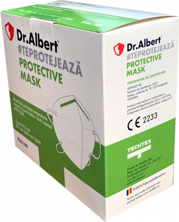 Set 10 bucati Masti de protectie ambalate individual FFP2 Dr. Albert