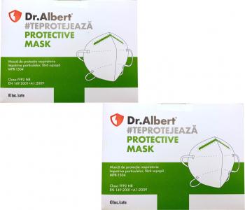 Set 20 bucati Masti de protectie ambalate individual FFP2 Dr. Albert