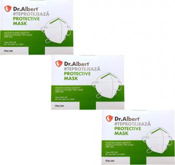 Set 30 bucati Masti de protectie ambalate individual FFP2 Dr. Albert