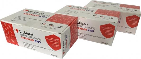 Set 45 bucati Masti medicale pentru copii ambalate individual de unica folosinta nesterile 98 tip II Dr. Albert