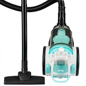 Aspirator fara sac Hausberg HB-2010B 700 W capacitate 3 L multi-cyclone Alb/B+ Magic Mop Ertone Mop Rotativ rosu
